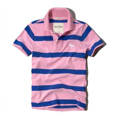 guys striped polo