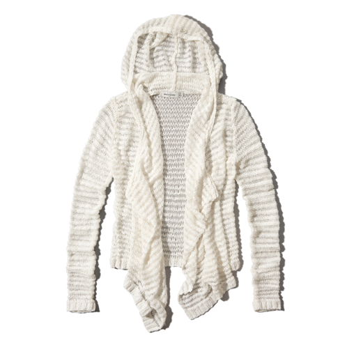 girls hooded non closure sweater