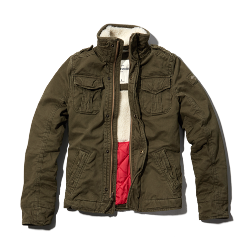 guys sherpa lined twill jacket