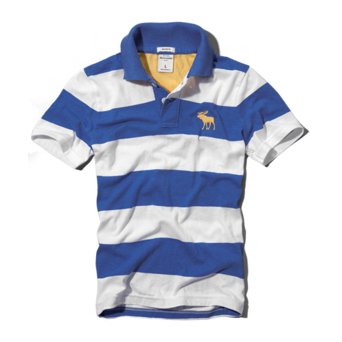 guys pop color striped polo