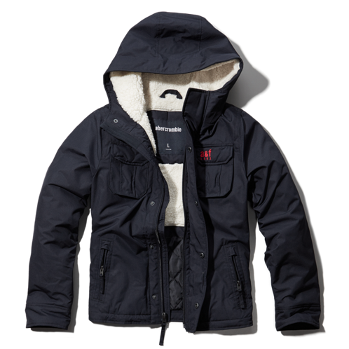 boys sherpa lined nylon jacket