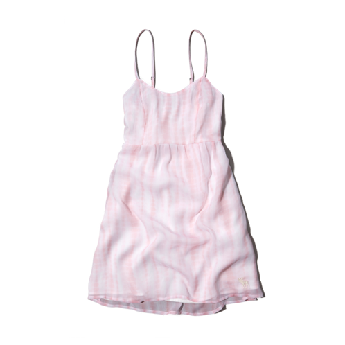 girls tie-dye chiffon dress