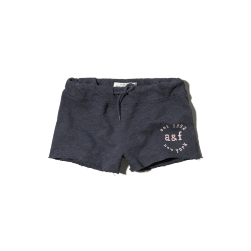 girls cut-off knit shorts