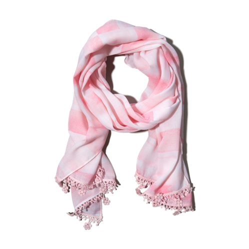 girls striped summer scarf