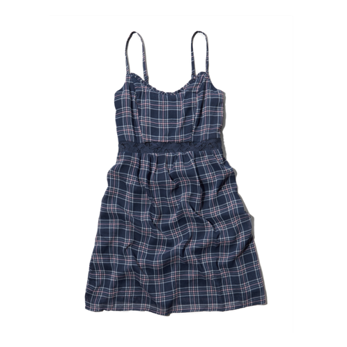 girls plaid babydoll dress
