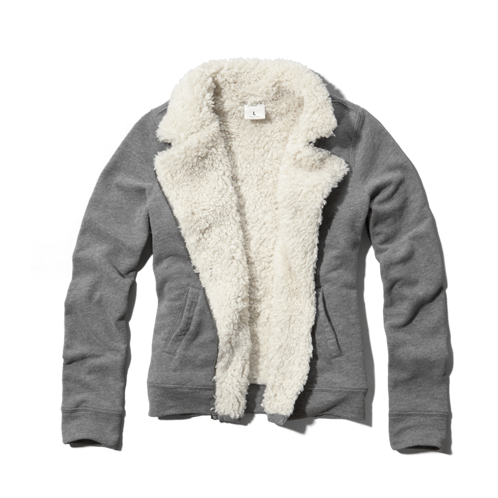 girls sherpa lined moto sweatshirt