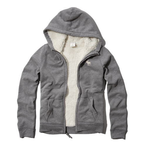 guys sherpa lined hooded sweatshirt