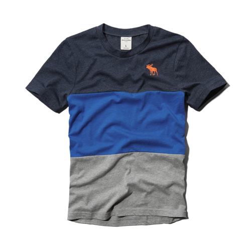 boys color blocked crew tee