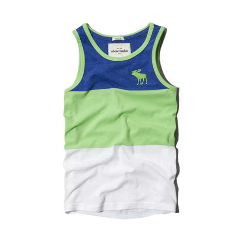 boys color blocked tank