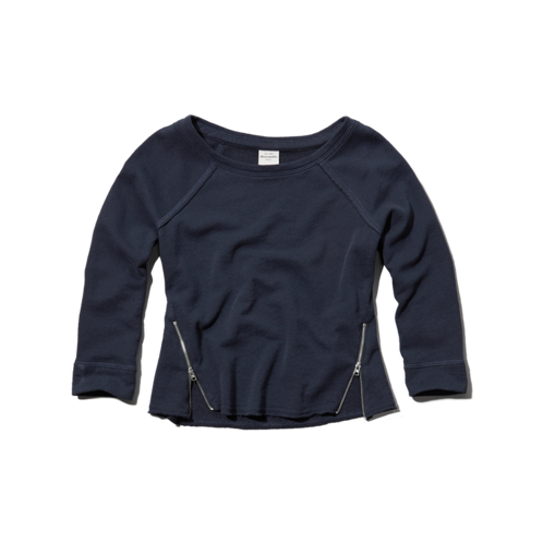 girls zip crew sweatshirt
