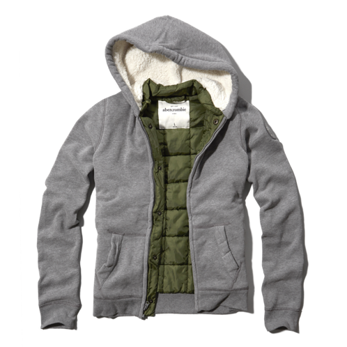 boys sherpa lined mock neck sweatshirt