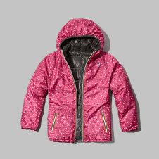girls k-way with a&f milly thermo plus jacket