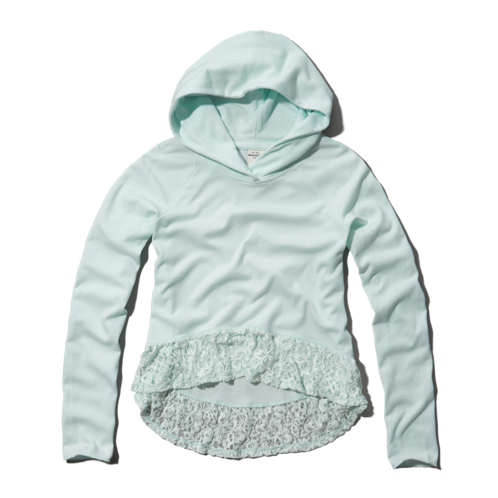 girls lace embellished hoodie