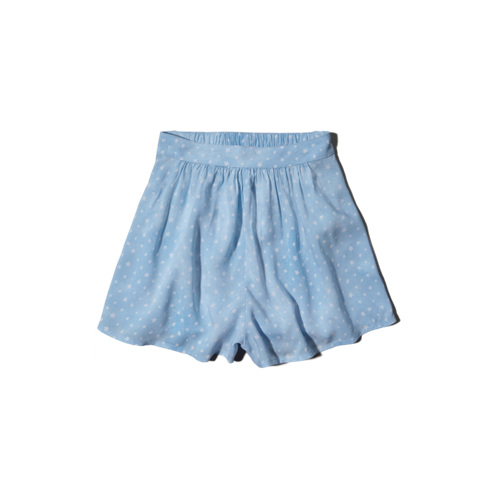 girls star print culotte shorts