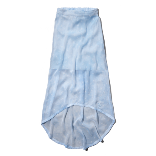 girls chiffon hi-lo skirt