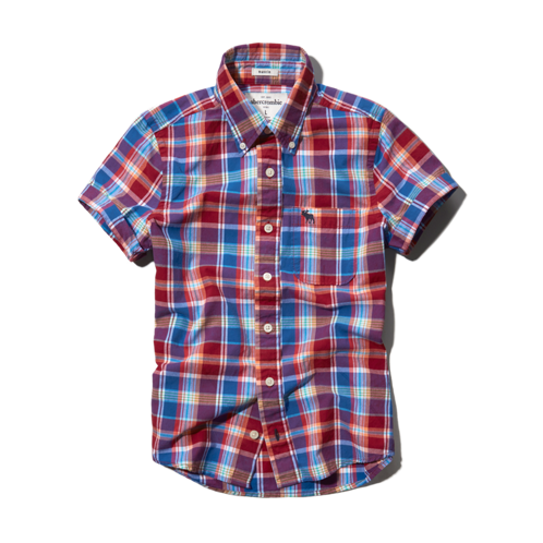 boys plaid button-down shirt
