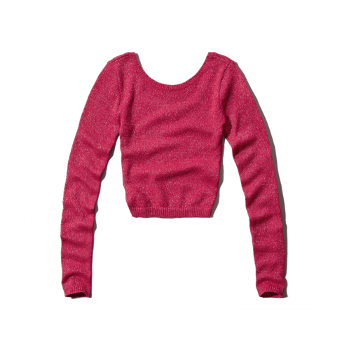 girls shine cropped sweater
