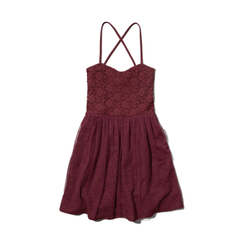 girls cross-back lace dress