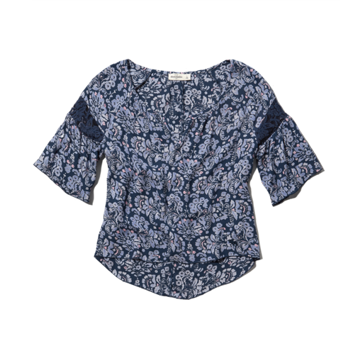 girls floral peasant top
