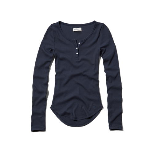 girls slim henley