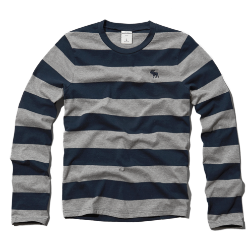 boys striped long-sleeve tee