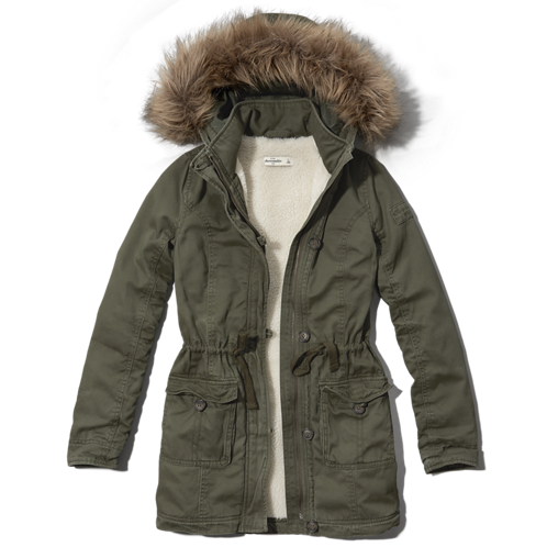 girls sherpa-lined parka