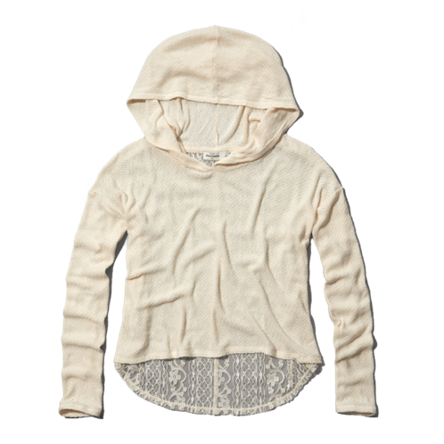 girls lace-back snit hoodie
