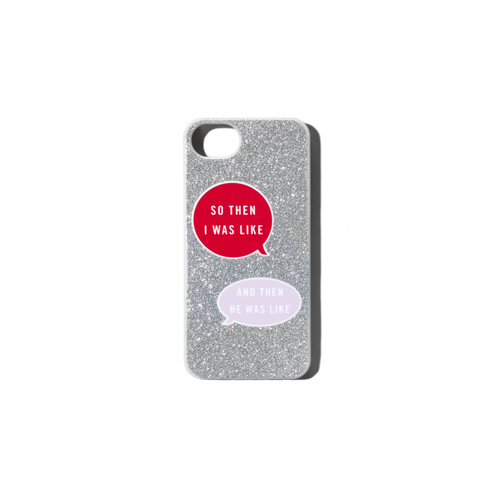 girls glitter conversation phone case