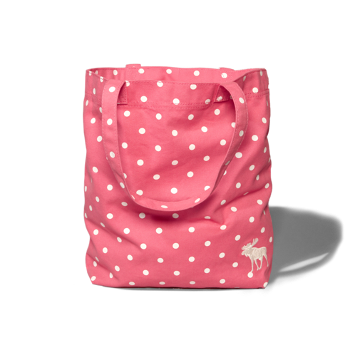 girls dots tote bag