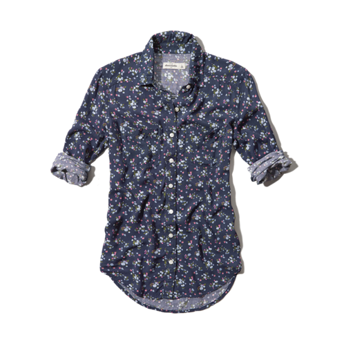 girls floral printed shirt