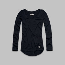 girls long-sleeve solid tee