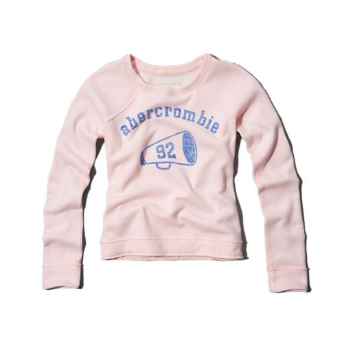 girls sparkle logo sweatshirt