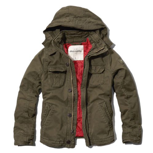 boys military-inspired twill parka