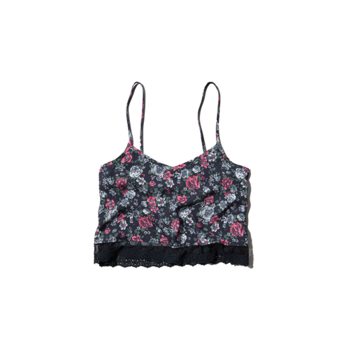 girls floral cropped cami