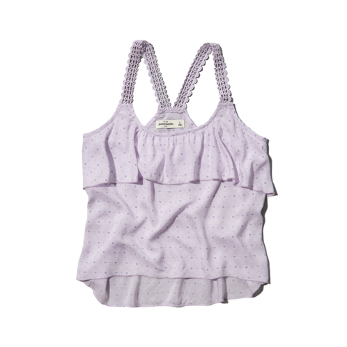 girls relaxed ruffle tank