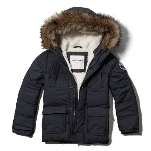 boys sherpa lined puffer jacket