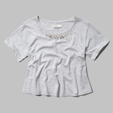 girls shimmering necklace tee