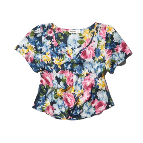 painterly floral top painterly floral top