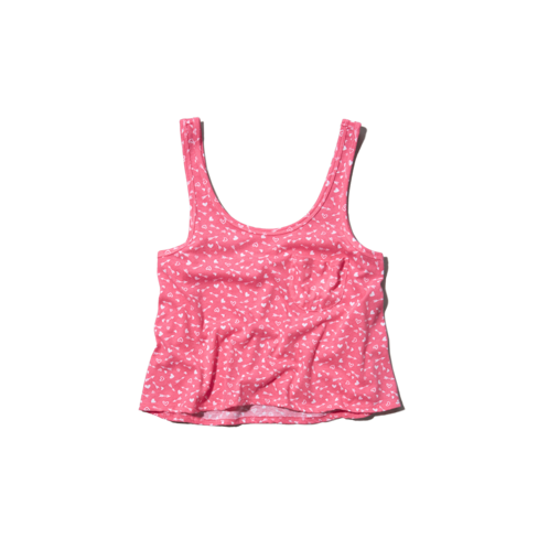 girls cropped tank top