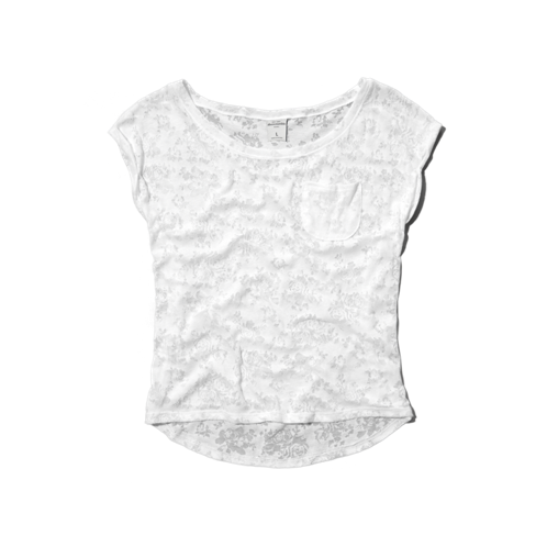 girls burnout pattern pocket tee