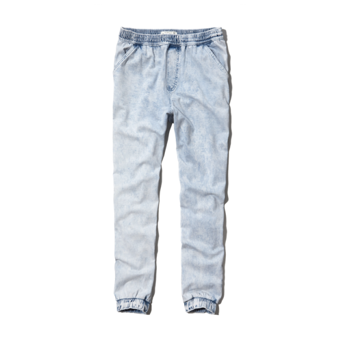 girls a&f denim jogger pants
