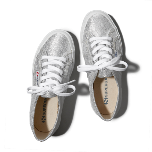 girls superga lamé sneakers