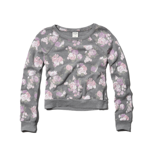 girls all-over floral sweatshirt