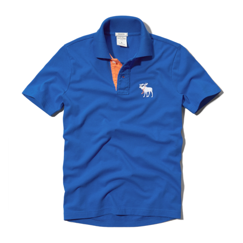 boys contrast placket polo