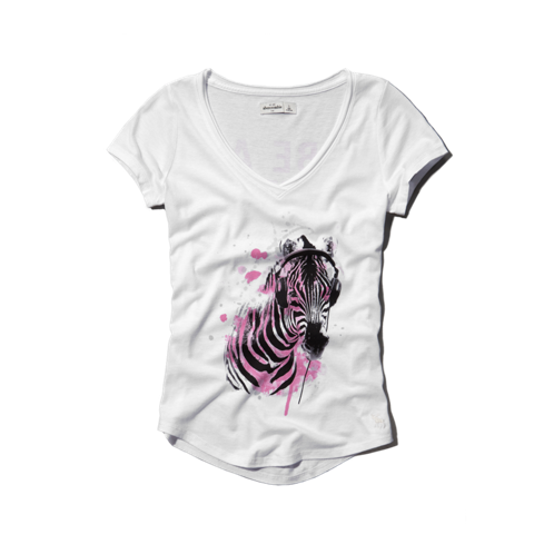 girls animal graphic tee