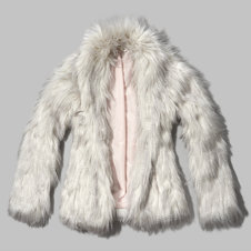 girls fluffy faux fur jacket