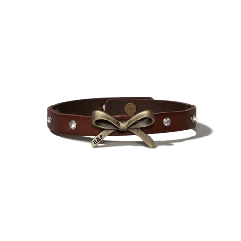 girls leather bow bracelet