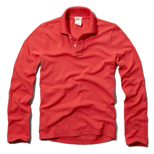boys classic solid long-sleeve polo