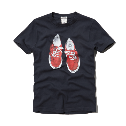 boys sneaker graphic tee
