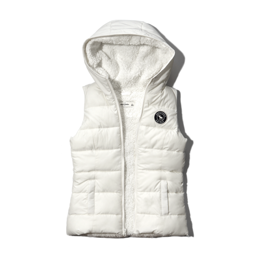 girls sherpa-lined puffer vest